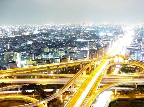 高速道路からの夜景
